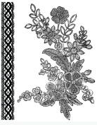 Prima - Rosarian Collection - Clear Acrylic Stamps - Mix 2