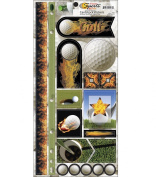 Name Of The Game Cardstock Stickers 14cm by 29cm Sheet, Golf Balls