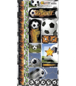 Name Of The Game Cardstock Stickers 14cm by 29cm Sheet, Soccer Balls