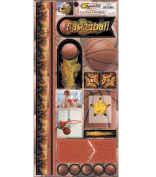 Name Of The Game Cardstock Stickers 14cm by 29cm Sheet, Basketballs