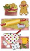 Paper Bliss Christmas Embellishments-Gingerbread Joy