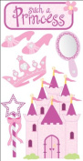 Essentials Dimensional Stickers 2.75X6.75 Sheet - Princess