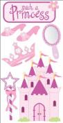 Essentials Dimensional Stickers 2.75X6.75 Sheet - Princess