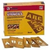 Hand-Tools - Stencil Brass 1.9cm Numbers Only 15-Piece