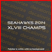Seattle Seahawks 2014 Super Bowl XLVIII Champions Vinyl Decal Car Sticker