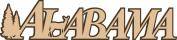 Petticoat Parlour Alabama Laser Cut Title, 15cm by 4.4cm , Tan on Dark Brown