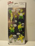 The Simpsons Stickeroni Hallmark Foil Stickers