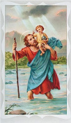 Rosarybeads4u Prayer Verse Card 120mm X 65mm Plastic Wallet & Medal St Saint Christopher