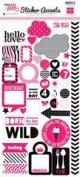 Echo Park Pretty in Pink Mini Theme Sticker