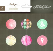 Studio Calico Sundrifter Adhesive Badges for Scrapbooking