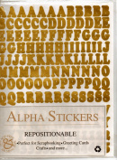 Alpha Stickers Gold