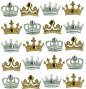 Jolee's Boutique Dimensional Repeat Stickers, Crowns