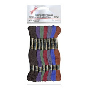 Somore Embroidery Floss Assorted Dark Colours 8