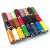 World Pride 24 Assorted Multi-colour Spools Polyester Sewing Threads