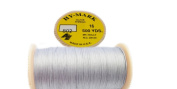 Button Thread HY - MARK Glace Thread #16 500 YDS (Special) Extra Strong 100% Cotton MADE IN U.S.A. Colour 802 Light Grey