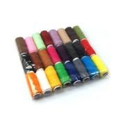 Kobwa(TM) DIY Sewing 24 Assorted Colour Cotton Thread/Spool of Yarn +Free Keyring