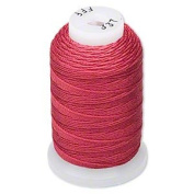 Simply Silk Beading Thick Thread Cord Size FFF Maroon 0.016 Inch 0.42mm Spool 92 Yards Compatible with Kumihimo Super Lon