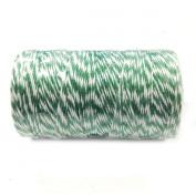 AllyDrew Cotton Baker's Twine 4ply (109yd/100m), Dark Green/White