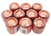 Lot 10 Balls Copper Brown Size 8 Perle/pearl Cotton Threads for Crochet, Hardanger, Cross Stitch, Needlepoint and Other Hand Embroidery Crafts