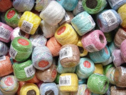 Free Ship Light Pastel Colours Lot 10 Balls Size 8 Perle/pearl Cotton Threads for Crochet, Hardanger, Cross Stitch, Needlepoint Hand Embroidery
