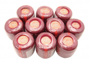 Lot 10 Balls Burgundy Size 8 Perle/pearl Cotton Threads for Crochet, Hardanger, Cross Stitch, Needlepoint and Other Hand Embroidery Crafts