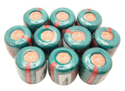 Lot 10 Balls Deep Sea Green Size 8 Perle/pearl Cotton Threads for Crochet, Hardanger, Cross Stitch, Needlepoint and Other Hand Embroidery Crafts