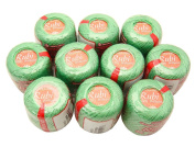 Lot 10 Balls Jade Green Size 8 Perle/pearl Cotton Threads for Crochet, Hardanger, Cross Stitch, Needlepoint and Other Hand Embroidery Crafts