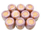 Lot 10 Balls Light Purple Size 8 Perle/pearl Cotton Threads for Crochet, Hardanger, Cross Stitch, Needlepoint and Other Hand Embroidery Crafts