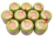 Lot 10 Balls Lime Green Size 8 Perle/pearl Cotton Threads for Crochet, Hardanger, Cross Stitch, Needlepoint and Other Hand Embroidery Crafts