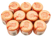 Lot 10 Balls Peachy Pink Size 8 Perle/pearl Cotton Threads for Crochet, Hardanger, Cross Stitch, Needlepoint and Other Hand Embroidery Crafts