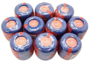 Lot 10 Balls Royal Blue Size 8 Perle/pearl Cotton Threads for Crochet, Hardanger, Cross Stitch, Needlepoint and Other Hand Embroidery Crafts
