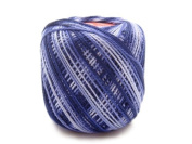 Lot 10 Balls Variegated Blue Size 8 Perle/pearl Cotton Threads for Crochet, Hardanger, Cross Stitch, Needlepoint and Other Hand Embroidery Crafts