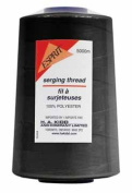 Polyester Serger Sewing Thread 5000 Metres Cone - Black