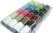 Polyester Thread 24 Spools Multi Coloured 200 Yards