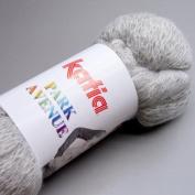 Katia Park Avenue Luxury Ruffling Scarf Yarn Colour 101 Light Grey 75g Sk