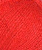 Red Angora Bunny Rabbit Fur Fingering Weight Yarn TWO Pack