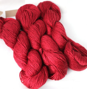 Fyberspates Scrumptious Silk/Merino Wool Aran Empire Biscuit (Bright Red) Yarn