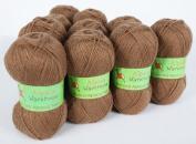 Alpaca Blended Knitting Yarn Fingering 10 Skeins, Camel