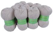 Alpaca Blended Knitting Yarn Fingering 10 Skeins, Beige
