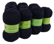 Alpaca Blended Knitting Yarn Fingering 10 Skeins, Navy Blue