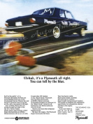 """1965 Plymouth Belvedere Ad Digitised & Re-mastered Car Poster Print """"You Can Tell by the Blur"""""""