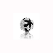 Charm Factory Black Flower Bead