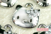 K19 Wholesale Hello Kitty Clear Crystal Bow Style 10pcs Bead Charm Pendant
