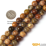 Gem-Inside 10mm Round Natural Agate Beads Strand 15 Inches