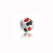 Charm Factory Red Hearts Bead