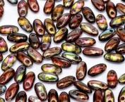 Magic Wine 2.5x6mm Rizo Beads Czech Glass Seed Beads 22 Gramme Tube