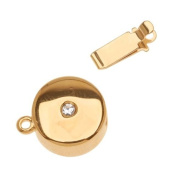 23K Gold Plated Box Clasp - Disc Shaped With. ELEMENTS 12mm Diameter