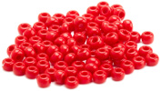 Beaders Paradise LTS18 Czech Glass Opaque Red 10/0 Seed Beads in a Tube