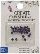 . Elements Bicone Crystal, Purple Velvet, 4mm