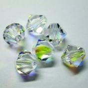 . Elements Bicone Crystal, Crystal AB, 8mm